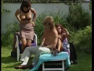 MILF Outdoor Threesome