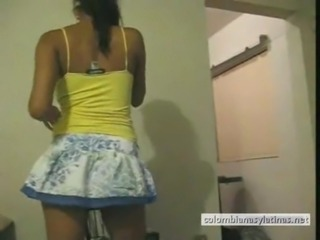 Amateur Latina Skirt Teen