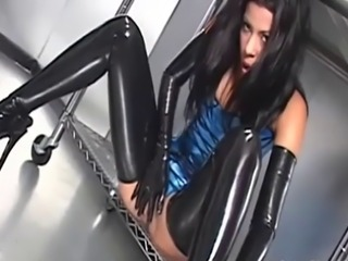 Amazing Fetish Latex MILF Pornstar
