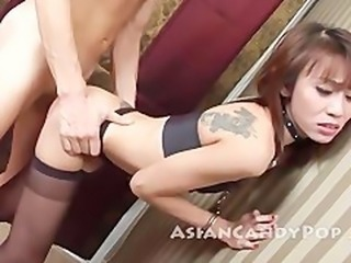 Asian Doggystyle MILF Skinny Stockings Tattoo