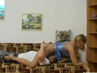 Blonde Homemade Licking Teen