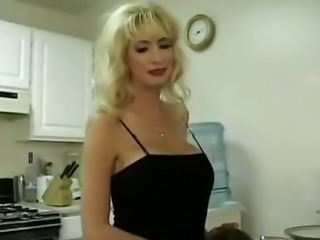 Blonde Cute Kitchen MILF