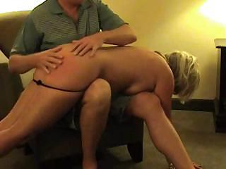 Hot Blonde Middle-aged Whore Gets Her Ass Spanked And Fucked