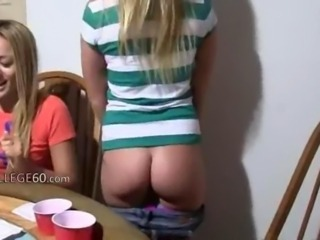 Ass Blonde Drunk Student