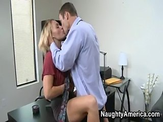 Blonde Kissing Office Secretary