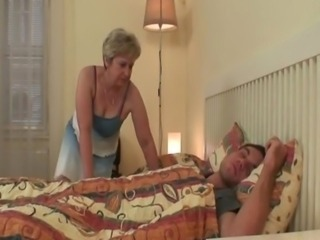 Cock Hungry granny copulates her son in law