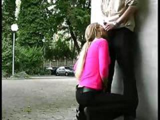 German slut fucked outdoor by swiss guy