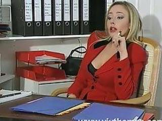 Amazing Blonde Cute MILF Office Secretary