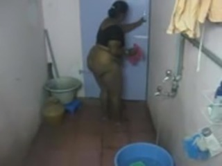 Bathroom BBW  Indian Mom Voyeur