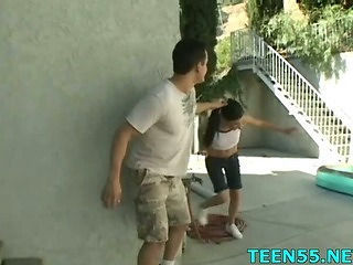 Forced Outdoor Teen