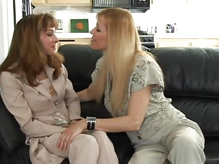 Blonde Kitchen Lesbian Mature Mom