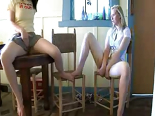 Two girlfriends in the kitchen Stream Porn