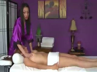 Hungry hot lesbian masseuse