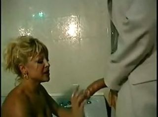 Bathroom Big cock Blonde European Italian MILF