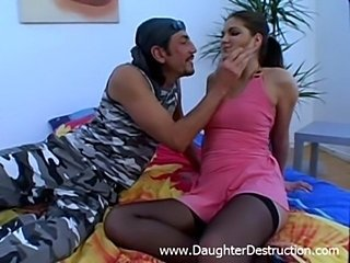 Shocking teen daughter destruction  free