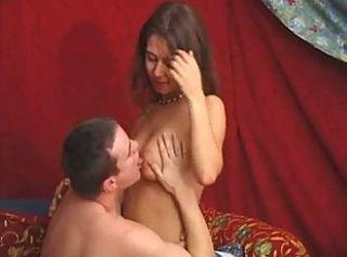 Young couple gives oral pleasure