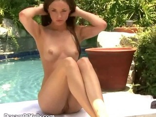 Brunette Slut Fucks Herself With Fingers