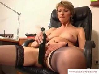 Mature Stella in say no to homeMade masturbation movie