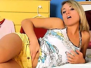italian blonde girl dildoing snatch