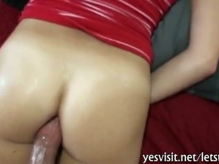 Pretty chick tries out hardcore anal sex with her pervert bf