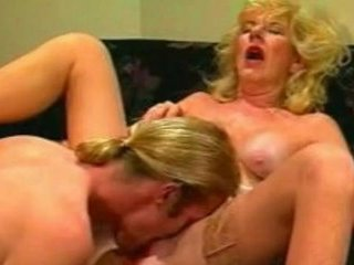 Granny Licking Stockings