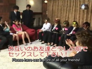 Subtitled Japan friends watch verified group foursome