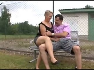 European German Mature Outdoor Public