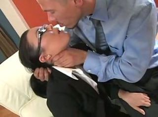 Forced Glasses MILF Secretary