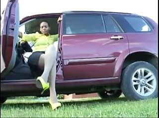 Car Ebony Legs MILF