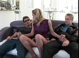 European Handjob Panty Threesome