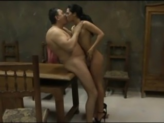 Brunette Handjob Old and Young