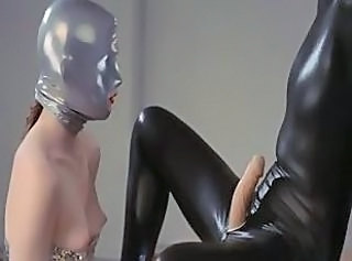 Luxury strapon lesbs in mask playing