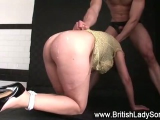 Of age bound brit Lady Sonia be hung up on and cumshot