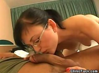 Masked Doctor Sucks Cock And Rides Her Patient
