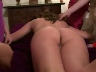 Blindfolded and naked amateur girls oral sex dildo fucking