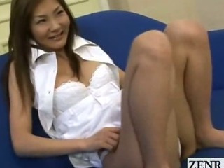 Subtitled Japanese masturbation to the fullest extent a for all retinue watch