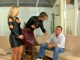 Domina makes slut suck