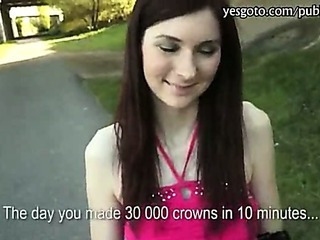 Amateur Cash Outdoor Pov Public Skinny Teen