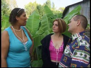 BBW European French Mature Outdoor Threesome