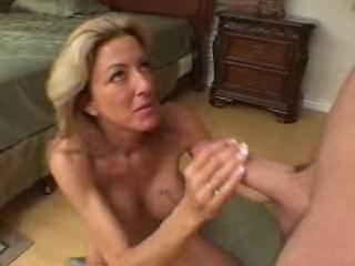 Big cock Handjob MILF Mom