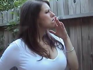 Busty MILF Smoking Long 120