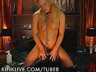 Kinky Blonde Plays With Her Toys