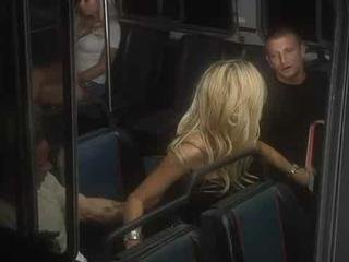 Two blondes blow on Bus