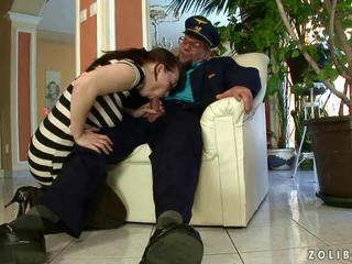 Grandpa fucking and pissing on young girl by reno78