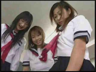 Asian Teen Threesome Uniform