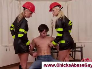 Watch these hot fire fighter babes