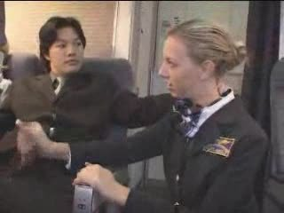 American Stewardess Handjob - Part 2