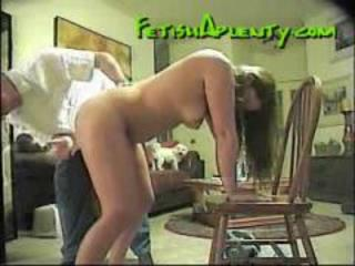 Cute milf gets spanked by her husband