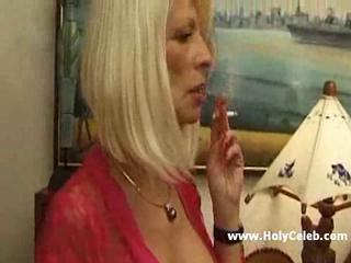European French MILF Smoking