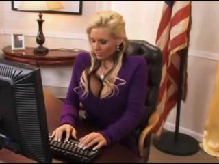 Big Tits Blonde MILF Office Pornstar Secretary